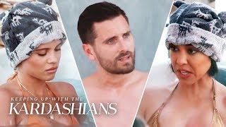 Scott Disick Feels Awkward In Hot Tub With Ex Kourtney & Girlfriend Sofia Richie | KUWTK | E!