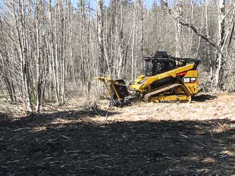 CAT 299D XHP with an Advanced Forest Equipment SS Extreme mulching attachment