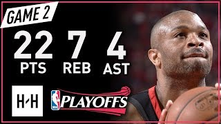 PJ Tucker Full Game 2 Highlights Warriors vs Rockets 2018 NBA Playoffs WCF - 22 Pts, 7 Reb, 4 Ast!
