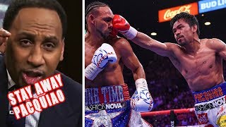 Stephen A Smith Warns & Disses Manny Pacquiao Again!