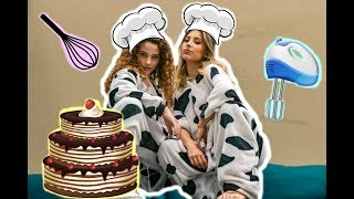 Baking With *NO HANDS* Challenge (w/ Sofie Dossi)
