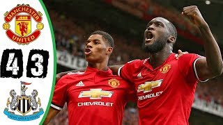 Manchester United vs Newcastle 4-3 All Golas & Highlights 19⁄11⁄2017 HD