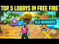 Top 5 Lobby In Free Fire 🤯|| Free Fire Telugu || Most Loved Lobbies In Free Fire || Old Memories 🥺
