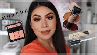 FULL FACE OF MORPHE PRODUCTS!!! + TESTING OUT THE NEW FLUIDITY FOUNDATION | Mari Bajari