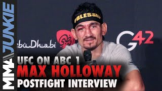 Max Holloway ready for title shot but willing to fight at UFC 257 | UFC on ABC 1 post fight