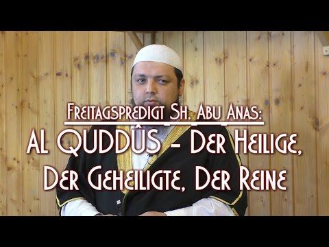 AL QUDDÛS - DER HEILIGE, DER GEHEILIGTE, DER REINE mit Sh. Abu Anas am 15.05.2015 in Braunschweig
