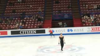MIRAI NAGASU PRACTICE WORLD FIGURE SKATING CHAMPIONSHIPS 2018 LADIES SP