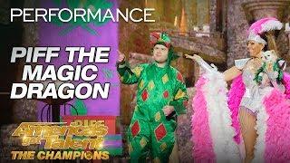 Piff The Magic Dragon: Hilarious Magician Shocks Heidi Klum - America's Got Talent: The Champions