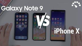 So sánh Galaxy Note 9 với iPhone X iOS 12: bất ngờ với 3GB Ram
