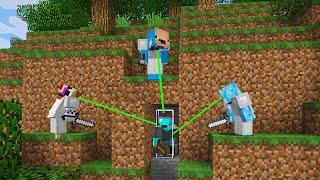 Minecraft Speedrunner vs 3 Hackers