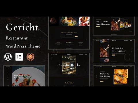 Gericht | Best Free WordPress theme for Restaurant | Iqonic Design