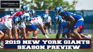 Football Gameplan's 2019 NFL Team Preview: New York Giants