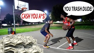 1v1 Basketball Beat Me Win Money...Exposing Trash Talkers At The Park Mic'd Up!