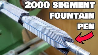 I make a 2000 SEGMENT FOUNTAIN PEN | Woodturning challenge