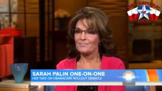 Sara Palin Rips Matt Lauer and President Obama Over The Failed O-Care Rollout