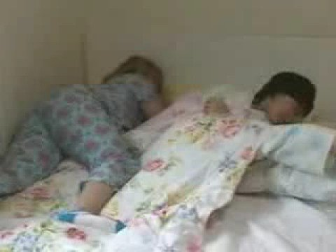 Super Junior sleeping