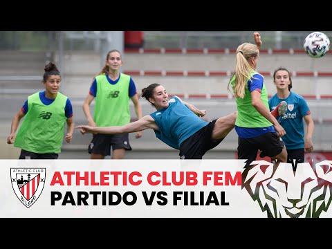 Partido entre el Athletic Club femenino y el filial