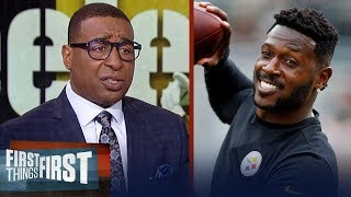 Cris Carter lists the best destinations available for Antonio Brown | NFL | FIRST THINGS FIRST