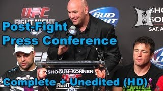 UFC on FOX Sports 1: Shogun vs Sonnen Post-Fight Press Conference (complete + unedited)
