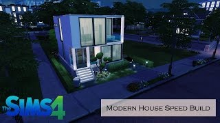 SIMS 4 MODERN HOUSE BUILD FOR YOUNG COUPLE ( SPEED BUILD) | StrawBerryGames