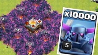 10000 P.E.K.K.A Attack in Clash of Clans!! 😱 OMG Heaviest Attack Ever!!!
