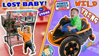 WE LOST OUR BABY while CHRISTMAS SHOPPING! Tickle Haha + POWER WHEELS Wild Thing FV