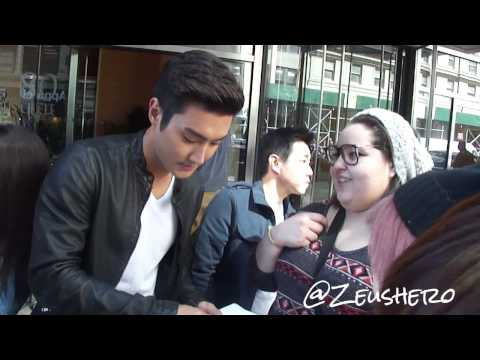 Siwon Choi 최시원 Super Junior leaving hotel @ Mandarin Oriental NYC 130506
