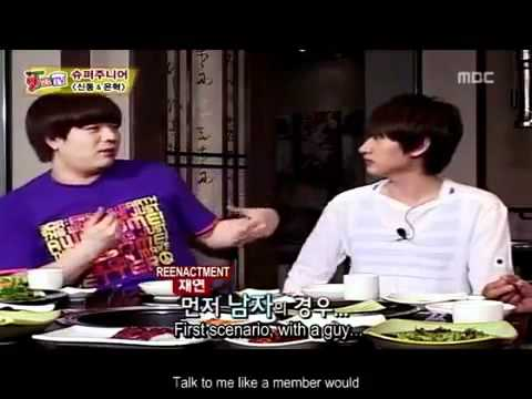 [Eng sub] Super Junior Sungmin's behaviour is different with boys and girls ?