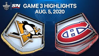 NHL Highlights   Penguins vs. Canadiens, Game 3 – Aug. 05, 2020