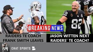 Raiders TE Coach Frank Smith Leaving Las Vegas + Raiders Rumors On Jason Witten & Foster Moreau