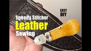 How to sew Leather with the Speedy Stitcher sewing Awl