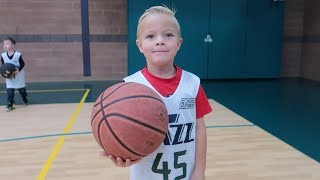 🏀Kid's FIRST Basketball Game and He Goes BEAST MODE!