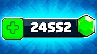 how I got 24,000 gems for FREE in Clash Royale...