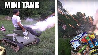GIANT DIY Mini TANK! (with fireworks)