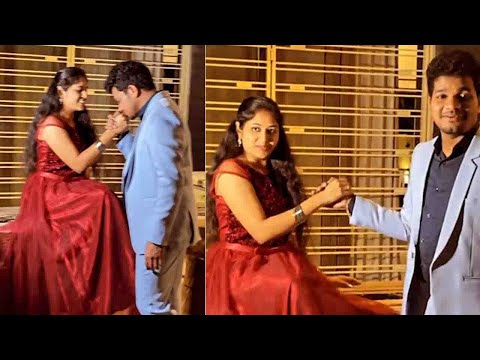 Sreemukhi makes fun of comedian Avinash and his finance Anuja at their photoshoot