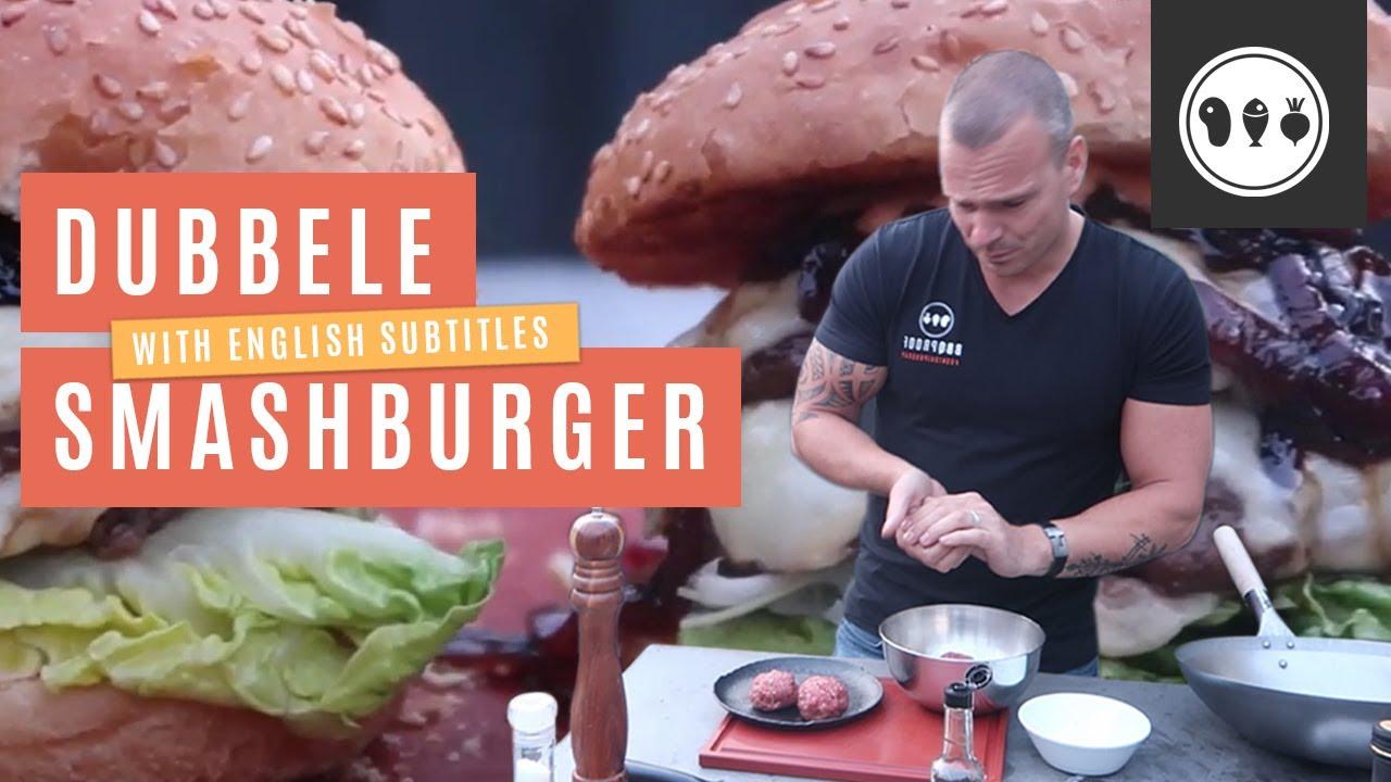 Dubbele smashburger van de MOESTA BBQ ring