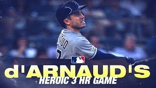 d'Arnaud hammers three home runs against Yankees