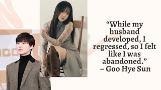 [HOT] Goo Hye Sun Reveals Intimate Details of What Led to Her Divorce with Ahn Jae Hyun