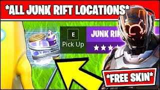 DESTROY STRUCTURES WITH JUNK RIFTS, VISIT DIFFERENT RIFT ZONES (Fortnite METEORIC RISE Challenges)