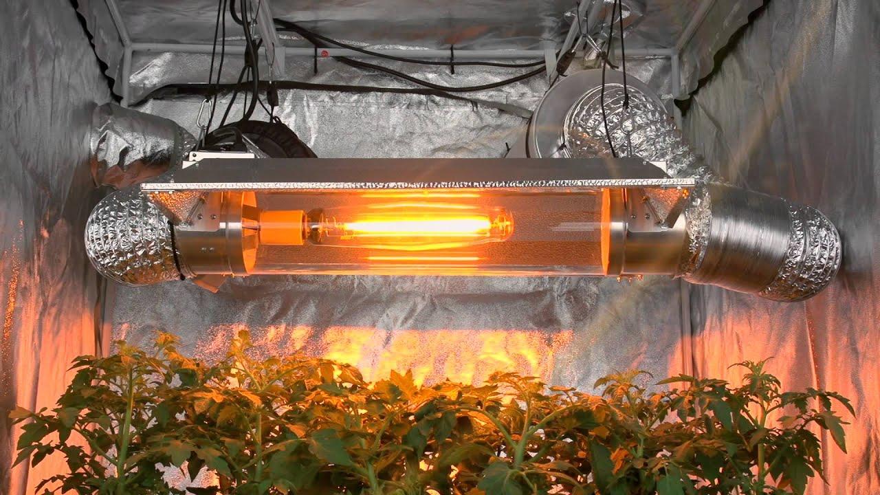 Vscr6000 Virtual Sun Open Cool Tube Grow Light Hood Youtube