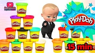 Learning Video For Toddlers With Playdough | Boss baby Play Doh Educational Videos For Kids