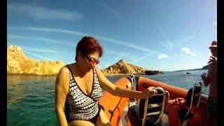 Excursión en barco en menorca