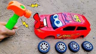 Lắp ráp xe ô tô đua Lightning Mcqueen - đồ chơi trẻ em BIBI TOYS