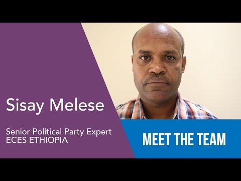 Sisay Melese - Senior Political Party Expert - ECES Ethiopia