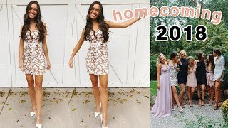 senior year homecoming 2018: get ready with me + vlog