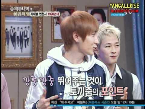 110119 Kyuhyun & Leeteuk Dancing Hiphop