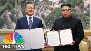 Leaders Of North And South Korea Pledge To Create A Nuclear-Free Peninsula | NBC News