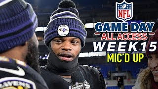 """NFL Week 15 Mic'd Up, """"Did I look like Lamar with that juke?!?"""" 
