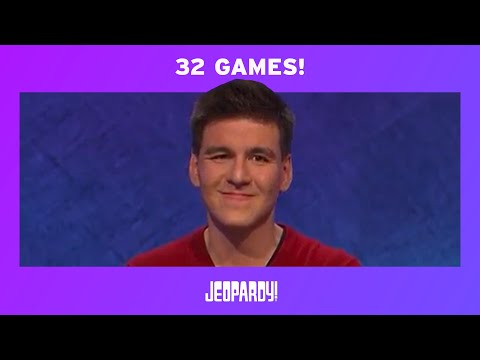 James Holzhauer's Record-Breaking 32-Game Streak   JEOPARDY!