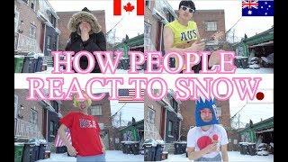 HOW PEOPLE REACT TO SNOW【TK-Entertainer】
